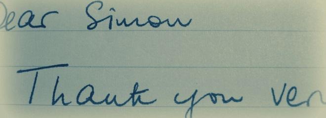 Dear Simon