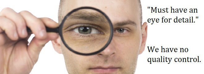 man with magnifying glass on his one eye