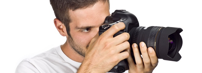 photographer close up