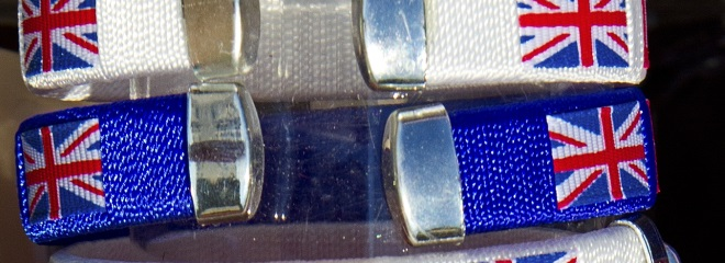 rubber wristbands with country names on them