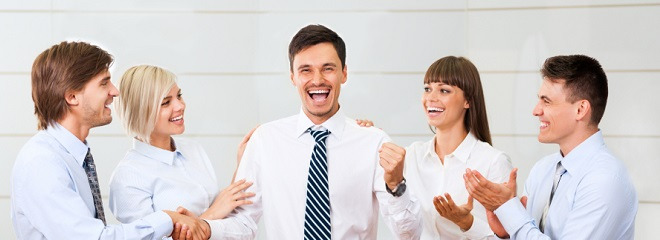 Laughing group