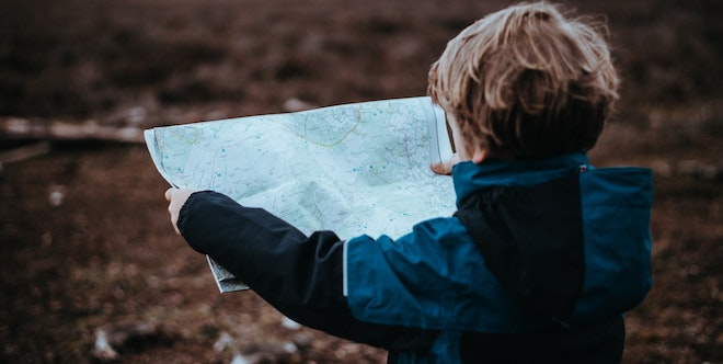 A Child With Map
